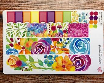 Vibrance Washi & Flags   Multi Color A La Carte