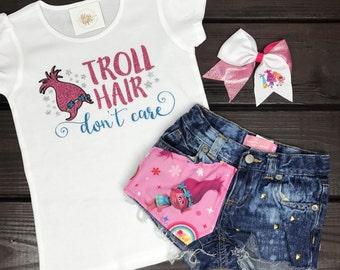 Troll Shirt   Trolls Shirt   Troll Hair Shirt   Trolls Birthday Outfit   Troll Birthday   Trolls Birthday  Trolls Personalized