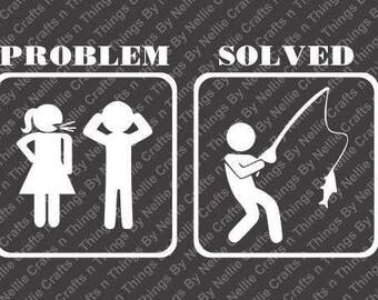 Problem Solved-Fishing SVG