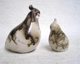 Native American Made Ceramic Horsehair Quail