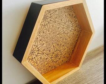 Decorative tasmanian oak shadow box