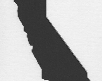 Pack of 3 California State Stencils,Made from 4 Ply Mat Board 16x20, 11x14 and 8x10