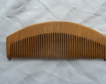 Combs, set of four wooden combs for hair or beard