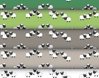 Grazing sheep digital papers x 5, in natural colours for ewe. Card-making and scrapbooking.