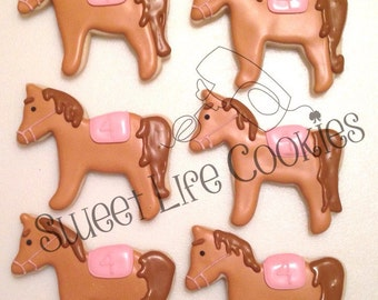 Giddy-up Horse Birthday Cookies