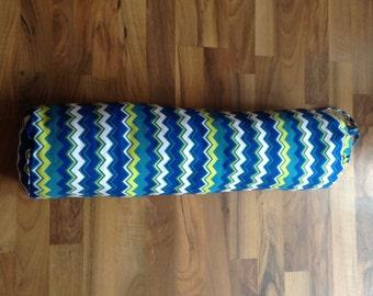 100 % Cotton Round Yoga Bolster - Zig Zag Print