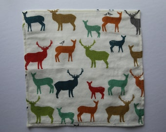 1 cotton handkerchief organic animal - handkerchief machine washable - wipe - reusable Kleenex - durable washable handkerchief - Zero waste
