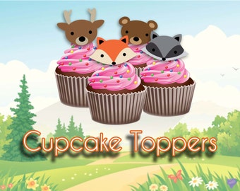 Woodland Animal Cupcake Toppers