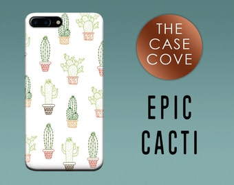 Cactus iPhone Case - iPhone 7 SE 4 4s 5 5s 5c 6 6s 6 + Plus - Cacti - Hard Plastic - Protective 8