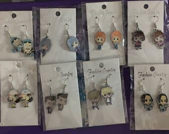 Anime themed earrings