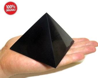 Shungite Polished Pyramid 100mm