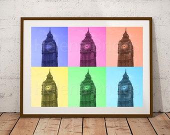 Big Ben, Big Ben Clock, Big Ben Print, Geometric Photography, Geometric Art, Geometric Art Print, Geometric Decor, Geometric Home Decor