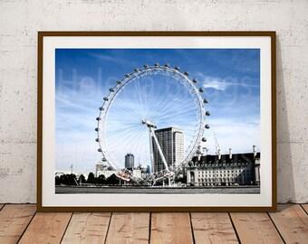 London Eye Photography, 12x16, 12x16 Print, 12x16 Art Print, 12x16 Picture, 12 x 16, 12 x 16 Picture, A3, A3 Print, A3 Picture, Wall Art