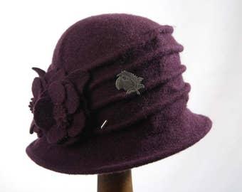 Purple Miss Phryne Fisher 1920s Cloche Hat