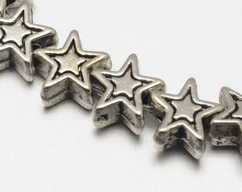 6 mm Tibetan Style Star Beads, Strand of Approx. 40 (1822)