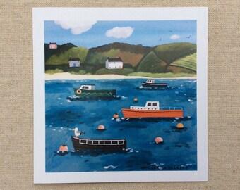 Buoys and Boats card