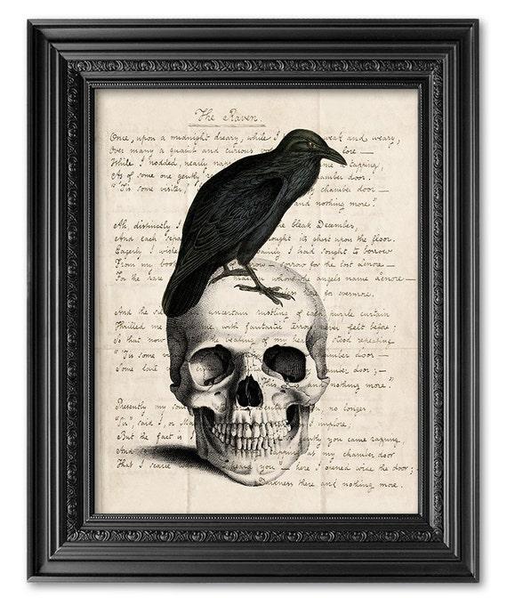 Souvent Edgar Allan Poe Art Print Original Handwriting Edgar Allan KH93