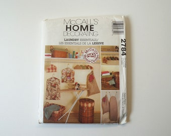 Uncut McCall's 2784 Home Decorating Laundry Essentials Paper Sewing Pattern