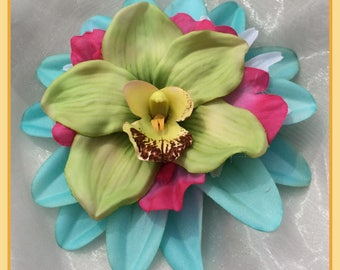 Tropical Delight Large Hairclip Pinup Hair Flower