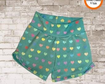 Baby Girl Shorts, Girls Shorts, Girls Summer Shorts, Hearts, Girls Summer Clothes, Girl Birthday, Trendy Kids Clothes, Girls Retro Shorts