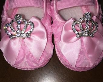 Princess 1st Birthday shoes,Pink Princess Shoes,purple princess shoes,Sofia The First shoes,Gold princess shoes,Tiara shoes,Sofia shoes