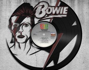 David Bowie Art, David Bowie Gift, Wall Decor Idea, Music Gift,  Ziggy Stardust, Aladdin Sane, Vinyl Record Decoration, Celebrity Inspired