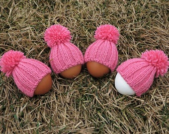 Set of 4 knit egg warmers egg cozies baby shower favors birthday party favors for adults decorative eggs house warming party farmhouse table