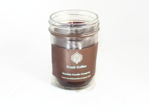 New! Fresh Coffee Scented Candle in Jelly Jar