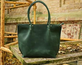 Leather Tote Bag Zipper + Zipper Bag + Large Green Tote Handles + Zippered Tote Bag + Leather Tote with Zipper + Leather Bag + Laptop Bag
