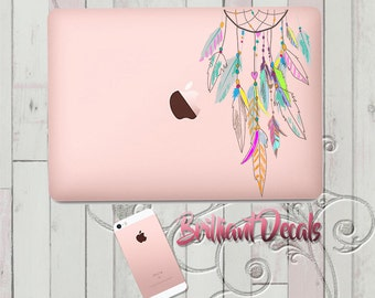 dreamcatcher decal, boho Decal, dreamcatcher Macbook Decal, Macbook Pro, Macbook Air, Sticker, MacBook Pro Decal,native american,Girly decal
