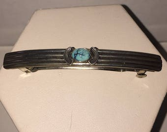 Sterling silver with turquoise barrett