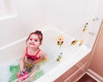 the first bathtub splash guard for kids by thesplashbaby on etsy. Black Bedroom Furniture Sets. Home Design Ideas