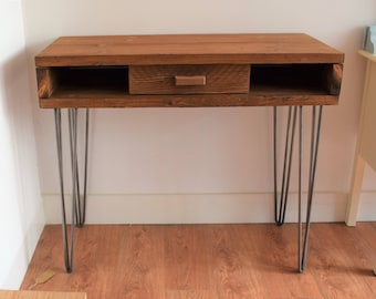 Made to Order Reclaimed Wooden Desk with 1 Drawer