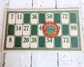 Antique XL Cardboard Lotto Cards - Ephemera - Mixed Media - Collage - Papercrafting