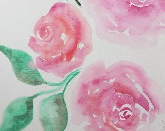 Watercolor Flowers Painting, Watercolor Flower Art, Floral Watercolor Painting
