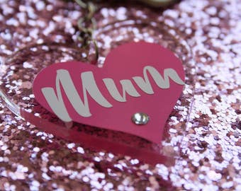 Mum keyring / Mother's Day keyring / acrylic keyring / mums keys / Mother's Day gift