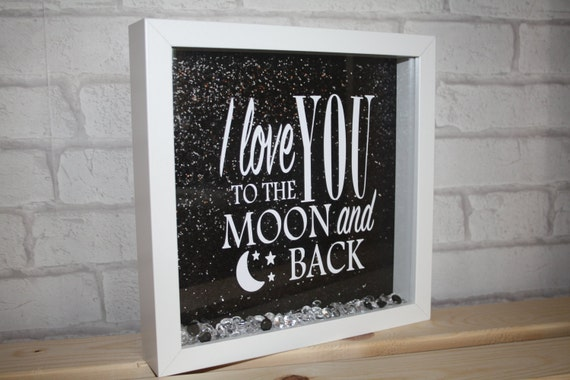 i love you to the moon and backquote box framemoonandbacki