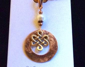 Celtic pendant, Hammered copper, Irish, Celtic jewelry, Celtic necklace, copper jewelry