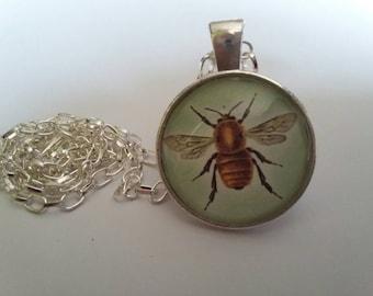 Golden bee pendent