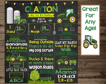 tractor first birthday, green tractor, tractor birthday chalkboard, boy farm birthday, farm first birthday, farm chalkboard, tractor, 2nd, 3