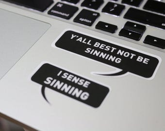 Priest Jimmy Vinyl Stickers