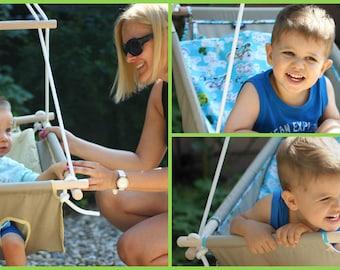 Baby Hammock, baby swing, cradle INDIGO handmade