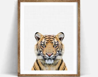 Tiger Print, Nursery Animal Wall Art, Tiger Wall Art, Nursery Decor, Safari African Animal Print, Nursery Printable, Safari Nursery Art