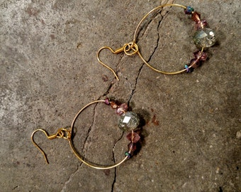 Seafoam crystal class hoops