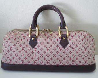 LOUIS VUITTON Monogram Cherry Pink Burgundy Alma Vintage