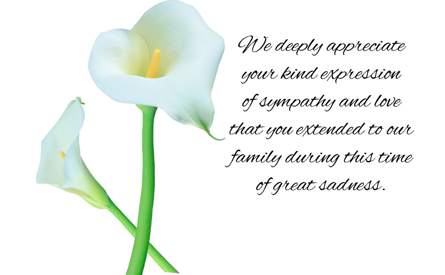 personalized sympathy acknowledgement cards  personalized