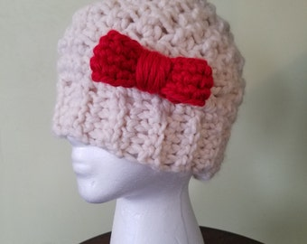Messy Bun Hat with Removable Bow