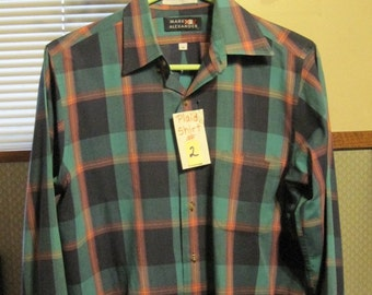Shirt #2, Men's Long Sleeve Shirt, Men's Medium Plaid Shirt