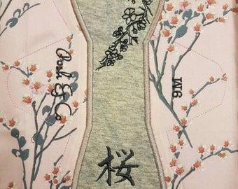 Japanese Sakura cloth pad csp hiraga. Fleece backed