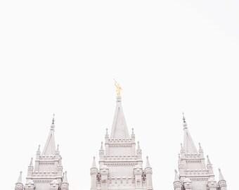 """Salt Lake Temple Print - """"Steeples"""""""
